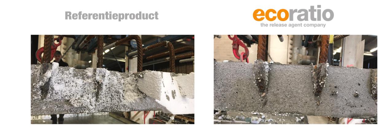 Verwijder polystyreen van beton