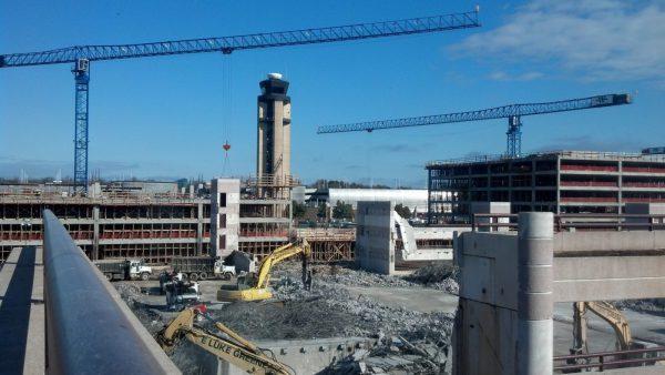 construction site concrete